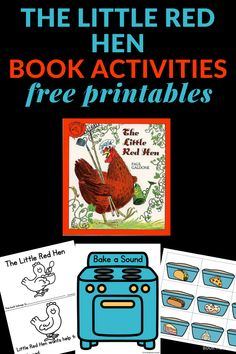 Two The Little Red Hen Activities that you can print and enjoy with the children. Includes a printable emergent reader and a beginning sounds activity. The Little Red Hen Preschool, Little Red Hen Activities, Little Red Hen Story, Indoor Activities For Kids, Literacy Activities, Preschool Activities, Preschool Programs, Creative Curriculum, Emergent Readers