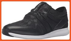 Cole Haan Women's 2.0 Studiogrand Trainer Fashion Sneaker, Black Floral Embossed Neoprene/Leather/Optic White, 7.5 B US - Sneakers for women (*Amazon Partner-Link)