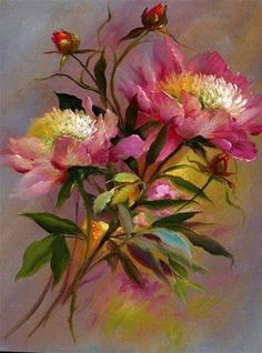 Wonderfully done.Michela # Art painting Floral Bouquet by Gary Jenkins Arte Floral, Pinturas Em Tom Pastel, Gary Jenkins, China Painting, Pastel Art, Floral Bouquets, Beautiful Paintings, Art Oil, Painting & Drawing