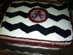 Alabama Chevron Cake