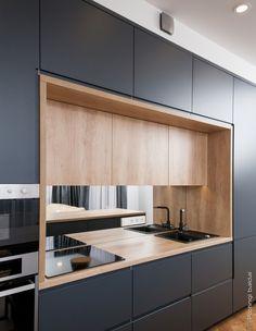 Kitchen Layout Interior, Kitchen Room Design, Modern Kitchen Design, Kitchen Decor, Kitchen Cupboard Designs, Modern Kitchen Cabinets, Kitchen Colour Combination, Elegant Kitchens, Minimalist Kitchen
