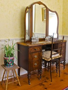 Marble Topped Dressing Table
