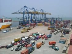 Freight Shipping Port of Tema, Ghana