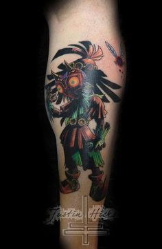 Lucky Bamboo Tattoo : Tattoos : Justin Hicks : Skull Kid form the ...