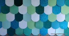 1-#mermaid/under the sea party #decoration #ideas: The paper fish scale wall