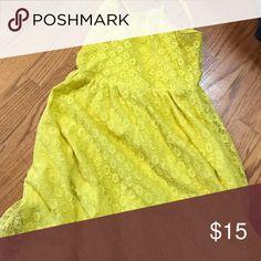 Lace button dress Brand-new never worn lace yellow button dress Dresses Mini