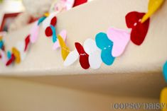 Felt Heart Garland by Alison from Oopsey Daisies! SUPER CUTE!