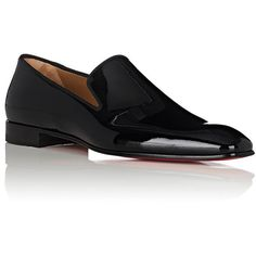 Christian Louboutin Men's Dandelion Patent Leather Venetian Loafers (50.965 RUB) ❤ liked on Polyvore featuring men's fashion, men's shoes, men's loafers, mens patent shoes, mens slipon shoes, mens slip on loafers, christian louboutin mens shoes and mens loafers