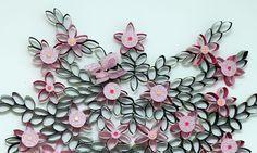 Artesanato com rolo de papel higiênico: Decoração de parede de quarto