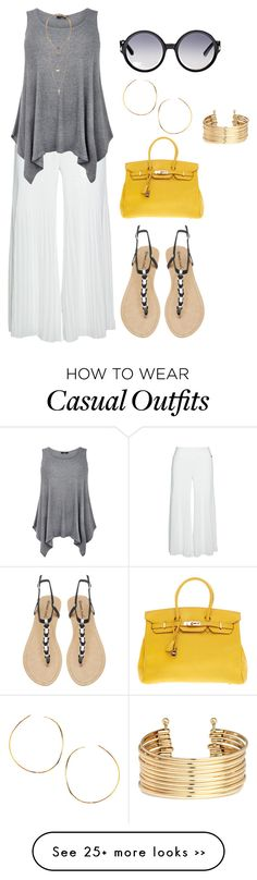"""plius size, summer casual day out"" by kristie-payne on Polyvore featuring Mat, Tom Ford, Wet Seal, Hermès, H&M and Lana"