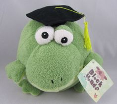Animal Adventure Block Heads Collection Green Plush Stuffed Frog EUC Adorable