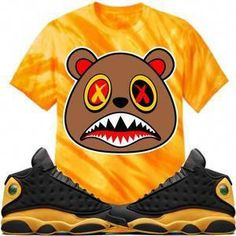 eaa2fda54822 Baws T-Shirt HONEY BAWS Tiger Stripe Sneaker Tees Shirt - Jordan 13 Oak Hill
