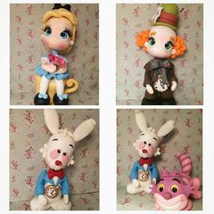 Biscuit, Alice, Pasta Flexible, Disney, Polymer Clay, Wonderland, Christmas Ornaments, Holiday Decor, Instagram