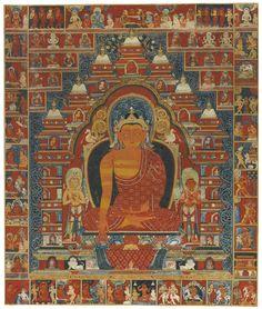A Magnificent Thangka Depicting Shakyamuni Buddha at Bodhgaya | Lot | Sotheby's