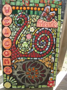 Mosaic Mixed Media Wall Art Hanging by Red Crow by RedCrowArts, $110.00