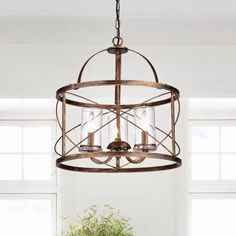 Ceiling Lights You'll Love in 2020 Rectangle Chandelier, 3 Light Chandelier, Chandelier Shades, Lantern Pendant Lighting, Pendant Chandelier, Entry Lighting, Dining Room Lighting, Lighting Ideas, Dinning Room Light Fixture
