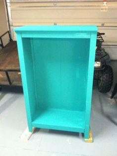 Bookcase repainted in Annie Sloan Florence before dark wax...