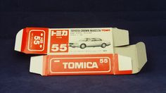 TOMICA 055F TOYOTA CROWN MAJESTA | 1/64 | ORIGINAL BOX ONLY | 1992-1993 JAPAN