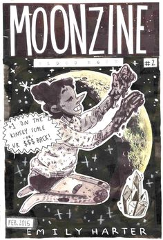 """swamp-witch:  After several delays, MOONZINE VOL. 2 is finally finished!!! Check it out!!! It's free online!!!"""" MOONZINE is suburban NY's premier Gay Moon lifestyle zine! Each issue of MOONZINE comes jam-packed with comics, articles, playlists, and more, all centered on the theme of Queer Teen Witchcraft. MOONZINE VOL. 2 BLOOD MOON is 12 pages of pure lunar sapphic goodness you just can't miss!!!""""if you are a girl or non binary person and want to contribute to the next issue, MOONZINE VOL…"""