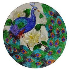 Continental Art Center Peacock Glass Plate