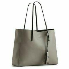 Poverty flats handbag Minimal wear inside,faux leather shopper,16x11.5,9.5 drop handle Poverty flats Bags Totes