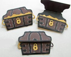 Pirate Chests- great for invitations, a thanks for coming to my party or a scrap book page