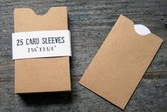 Card Sleeves.  Thinking these would be good to use to make our advent calendar.