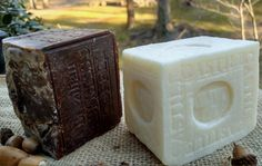 2 bars handcrafted soap Castile and Brazilian coffee 2017