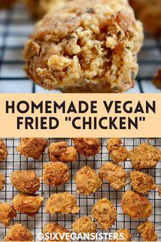 Seitan, Vegan Dinner Recipes, Vegan Snacks, Vegetarian Recipes, Vegan Food, Vegan Raw, Vegan Life, Vegan Fried Chicken, Fried Chicken Recipes