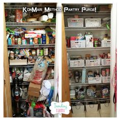 "KonMari Method – My Pantry Purge! Do you struggle with storage, organization and simply having ""too much"" STUFF?! Me too!! Well I think the answer to our problems has arrived… I'm excited to share a look at the KonMari Purge Method with you! If you're not familiar, the book ""The Life-changing Magic of Tidying Up"" is the …"