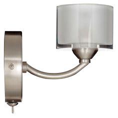 BuyJohn Lewis Paige Single Wall Light, Satin Nickel Online at johnlewis.com