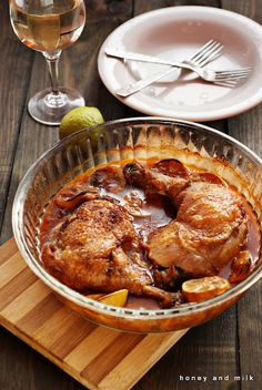 Moroccan Chicken by honeyandmilk: With translator. #Chicken #Moroccan_Chicken #honeyandmillk