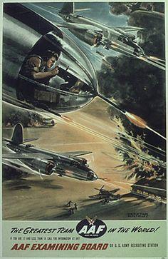 WW2 Army Air Force recruiting poster armi air, propaganda poster, air forc, recruit poster, forc recruit, wwii propaganda, posters, ww2 armi, propaganda 4045