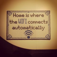 """""""Home is where the WIFI connects automatically"""" Photopearls frame by fisken08"""