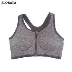 2bbdab0025 Hioffer High Impact Magiclift Zippered Sports Bra Removable Padded Yoga  Vest   Visit the image link more details. Fashion Woman