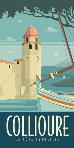 Vintage Retro Poster Illustrators 69 Ideas For 2019 Tourism Poster, Visit France, Art Deco, Advertising Poster, Tarzan, Vintage Travel Posters, Cool Posters, Grafik Design, Illustrations Posters