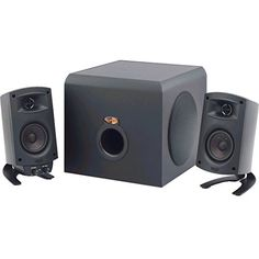 Klipsch ProMedia 2.1 THX Certified Computer Speaker System - 3-Piece Set (1011400) With Bluetooth Adapter