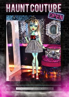 Monster High Stitched in Houndstooth by HauntCoutureAtelier
