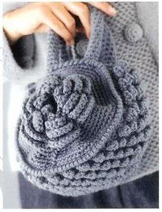 Receitas de Crochet: Bolsa Flor