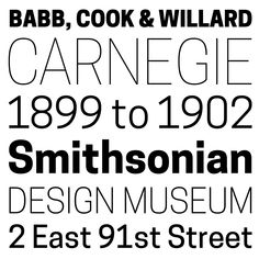 On December 12, 2014, the Cooper Hewitt reopened its collections to the public, equipped with a new corporate design by Pentagram's Eddie Opara and a custom typeface by Chester Jenkins, cofounder o...