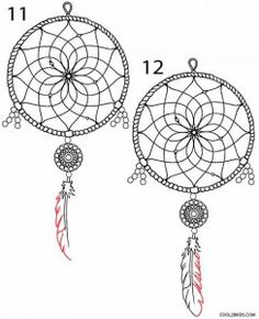 How to draw a dream catcher? Simple and easy method # catches - Landlikes Sites Dream Catcher Drawing, Dream Catcher Craft, Dream Catcher Tattoo, Hobbies And Crafts, Crafts To Make, Coloring Books, Coloring Pages, Wolf Dreamcatcher, Net Making