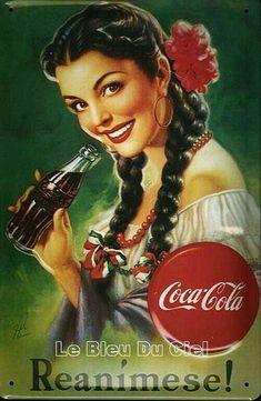 Coca Cola Vintage, Vintage Tin Signs, Vintage Labels, Vintage Ads, Vintage Posters, Coca Cola Poster, Coca Cola Ad, World Of Coca Cola, Pinup
