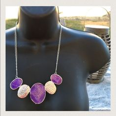 ‼️️BOGO FREE‼️ Purple hammered necklace Gorgeous necklace. Brand new in packaging. Bundles discounted, offers considered. ‼️ Only one available Jewelry Necklaces