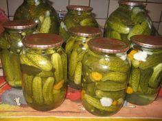 Огірки по польськи Russian Recipes, Pickles, Cucumber, Mason Jars, Canning, Food, Kitchen, Pickling, Cooking