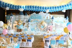 Fantastic prince and prince teddy bear  birthday party! See more party ideas at CatchMyParty.com!