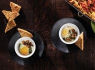 Baked Egg Cups with Garlic Toast
