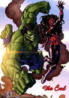#Hulk #Fan #Art. (Incredible HulksNo.635: (Hulk and Red She-Hulk Print) By: Tom Grummett. (THE * 5 * STÅR * ÅWARD * OF: * AW YEAH, IT'S MAJOR ÅWESOMENESS!!!™)[THANK Ü 4 PINNING<·><]<©>ÅÅÅ+(OB4E)