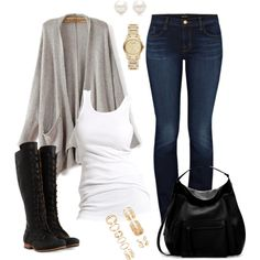 A fashion look from December 2015 featuring Soaked in Luxury tops, J Brand jeans and John Fluevog boots. Browse and shop related looks.