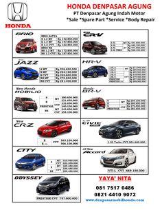 8 Ide Mobil Honda Honda Mobil Blog Planning