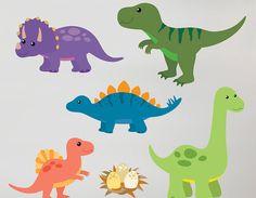 CHILRENS STICKERS | Children's-Dinosaur-Wall-Sticker-Set-3